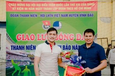Chương trình Giao lưu bóng đá thanh niên huyện  Vĩnh Bảo 2021.