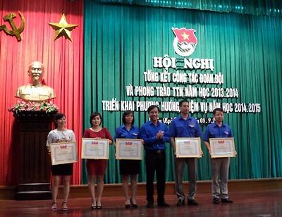 Tổng kết công tác Đoàn – Đội và phong trào thanh thiếu nhi năm học 2013 – 2014