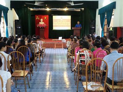 Tập huấn đội ngũ cán bộ Đoàn các trường Mầm non, Tiều học và THCS