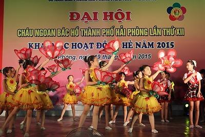 Đại hội Cháu ngoan Bác Hồ thành phố Hải Phòng lần thứ XII, khai mạc Hoạt động Hè 2015