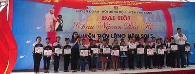 Huyện đoàn - Hội đồng Đội huyện Tiên Lãng: Đại hội Cháu ngoan Bác Hồ huyện Tiên Lãng năm 2015.