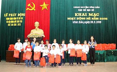 Huyện đoàn Vĩnh Bảo: Tổ chức khai mạc hoạt động hè năm 2015
