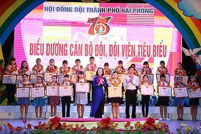 Kỷ niệm 75 năm Ngày thành lập Đội Thiếu niên Tiền phong Hồ Chí Minh và biểu dương 75 cán bộ Đội, đội viên tiêu biểu