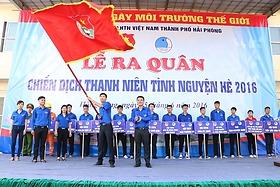 Ra quân chiến dịch thanh niên tình nguyện hè năm 2016
