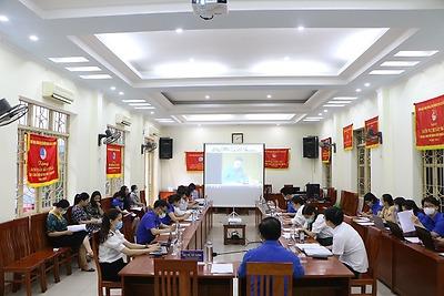 Cán bộ Đoàn tham gia học tập Nghị quyết Đại hội lần thứ XIII của Đảng và Chương trình hành động của Đoàn thực hiện Nghị quyết Đại hội lần thứ XIII của Đảng