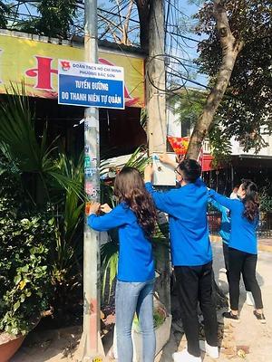 Tuổi trẻ quận Kiến An duy trì hiệu quả Tuyến đường văn minh do thanh niên tự quản
