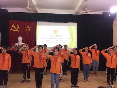 Tập huấn kỹ năng, nghiệp vụ công tác đội cho cán bộ chỉ huy Đội, sao nhi đồng quận Hồng Bàng