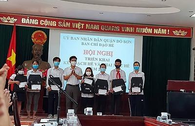 """Ban Chỉ đạo Hè quận Đồ Sơn tổ chức tốt các hoạt động nhân """"Tháng hành động vì trẻ em"""" và """"Ngày gia đình Việt Nam"""" năm 2021"""