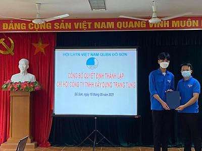 Thành lập Chi hội Công ty TNHH Xây dựng Trang Tùng