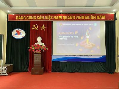 Đoàn Thanh niên - Hội Sinh viên Trường Cao đẳng Cộng đồng Hải Phòng tổ chức Chương trình Trang bị kiến thức khởi nghiệp cho sinh viên