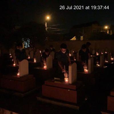 Đoàn phường Bàng La tổ chức Lễ thắp nến tri ân các Anh hùng liệt sĩ
