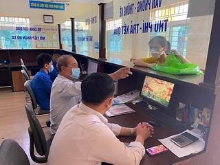 Huyện đoàn An Dương ra quân Ngày chiến sỹ tình nguyện giải quyết thủ tục hành chính