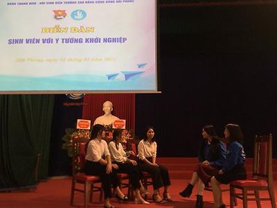 Hội Sinh viên Trường Cao đẳng Cộng đồng Hải Phòng tổ chức diễn đàn Sinh viên với ý tưởng khởi nghiệp