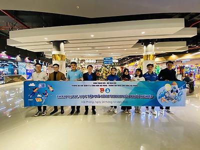 Đoàn Thanh niên – Hội Sinh viên Trường Đại học Quản lý và Công nghệ Hải Phòng và Trường Cao đẳng Cộng đồng Hải Phòng phối hợp tổ chức Chương trình Tham quan, học tập mô hình thanh niên khởi nghiệp.