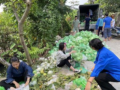Huyện đoàn An Dương đồng hành cùng nông dân vượt qua khó khăn trong mùa dịch bênh Covid 19