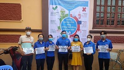 Huyện đoàn An Dương triển khai Mô hình Chợ dân sinh giảm thiểu rác thải nhựa.
